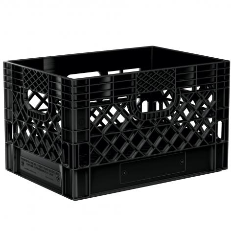 Black Rectangular Milk Crate