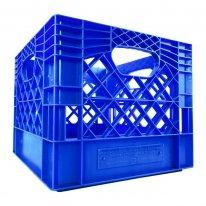 Blue Square Milk Crate