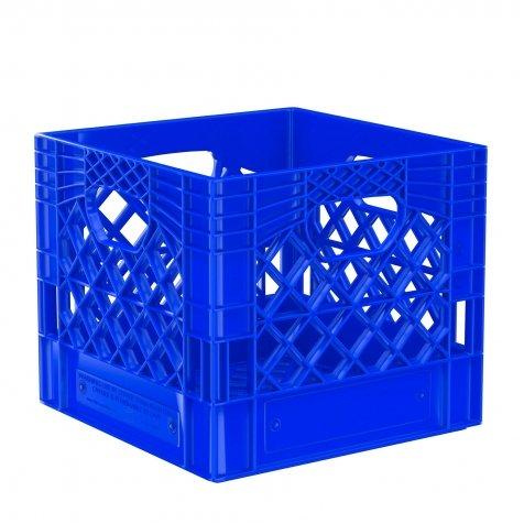 Pallet of 48 Color Square Milk Crates