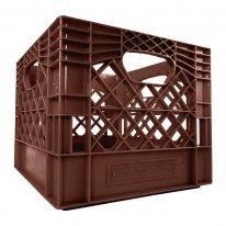 Brown Square Milk Crate