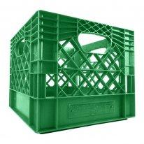 Green Square Milk Crate