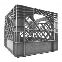 Gray Square Milk Crate
