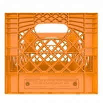 Orange Square Milk Crate