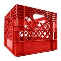 Red Square Milk Crate
