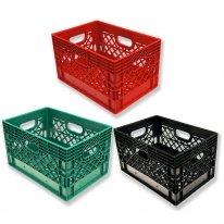 Set of 3 Rectangular Milk Crates