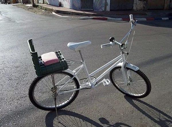 Milk crate bike basket & seat 2