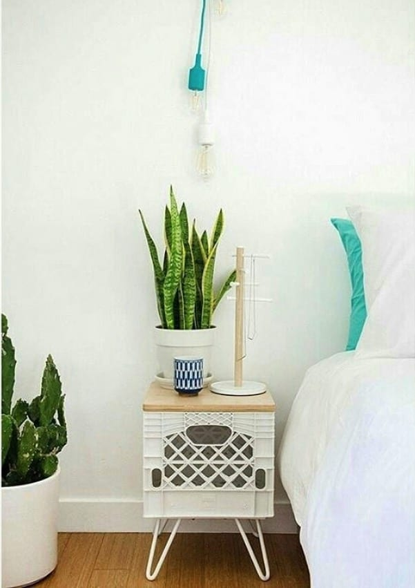 Milk crates in your home decor