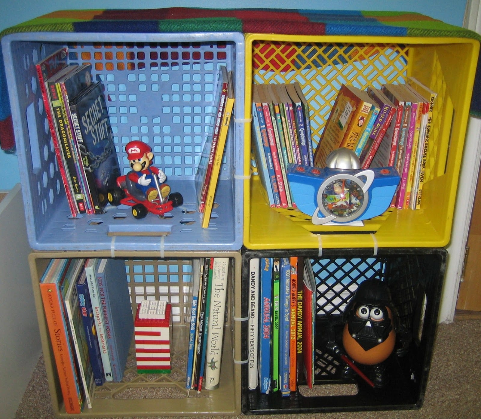 Home use of Milk Crates